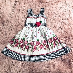 Youngland Gingham & Floral Dress